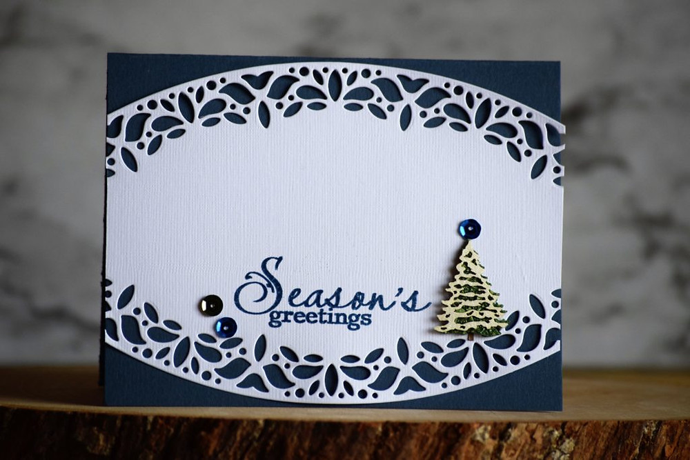 Simon Says Stamp #sssdiecember 2017 Corbel Curved Border Die card inspiration 2