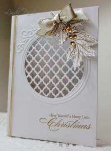 Ornament white and gold