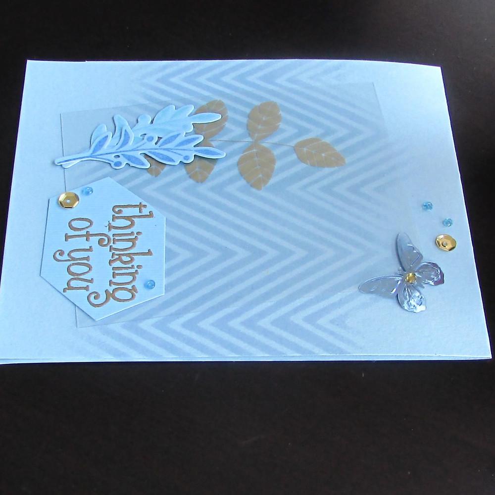 Card 1 - ink blending using a stencil