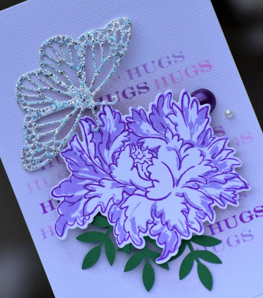 altenew majestic bloom and iostamps fancy butterfly die
