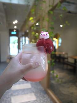 Raspberry Lychee Sparkling Float