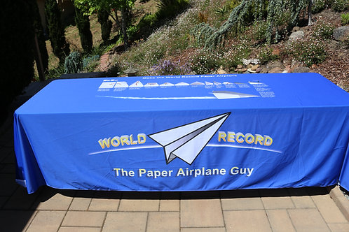 Table Drape: World Record Plane-- Make and fly the world's best distance plane