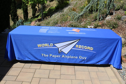 Table Drape: Tumbling Wing-- Make and fly a plane that rides a wave of air!