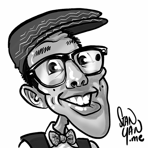 B&W Traditional Caricature - Digital