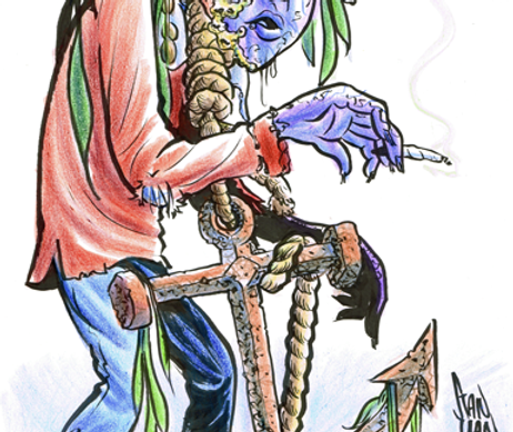 "Color Zombie Caricature - 11"" x 17"""