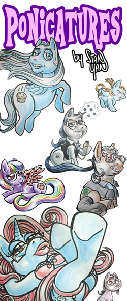 Pony Caricatures