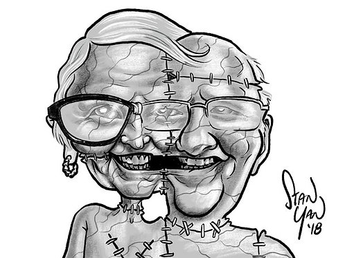 B&W Zombie Caricature - Digital