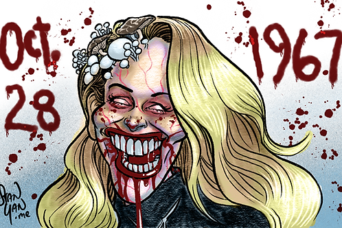 Color Zombie Caricature - Digital