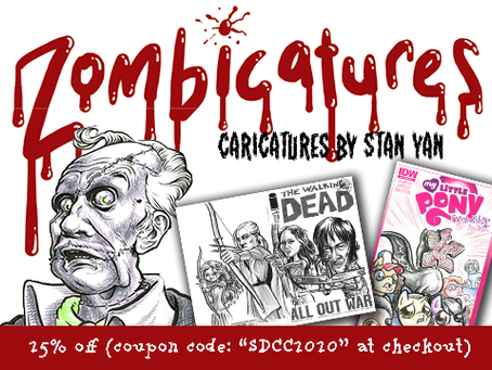 25% off online caricatures for Comic-Con@Home!