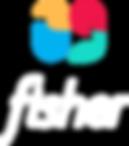 Logo Vertical Fisher em Branco.png