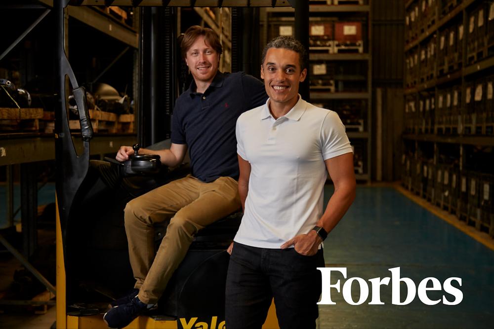 Os cofundadores da Octa, Daniel Lopes e Arthur Rufino: expertise tradicional e inovação combinadas para transformar o mercado de desmontagem veicular