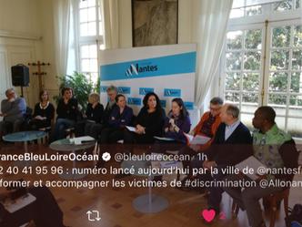 Participation au lancement du service AlloNantes Discriminations