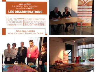 Signature d'une convention contre les discriminations et injures raciales