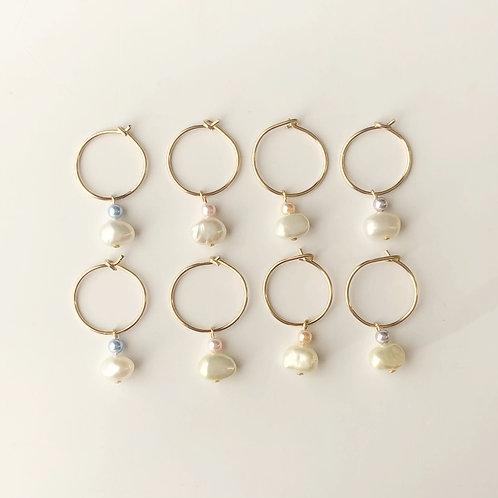 Mini Pearl Hoops