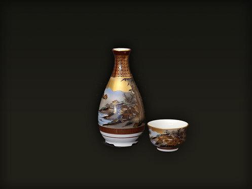 Kutani Sake Set