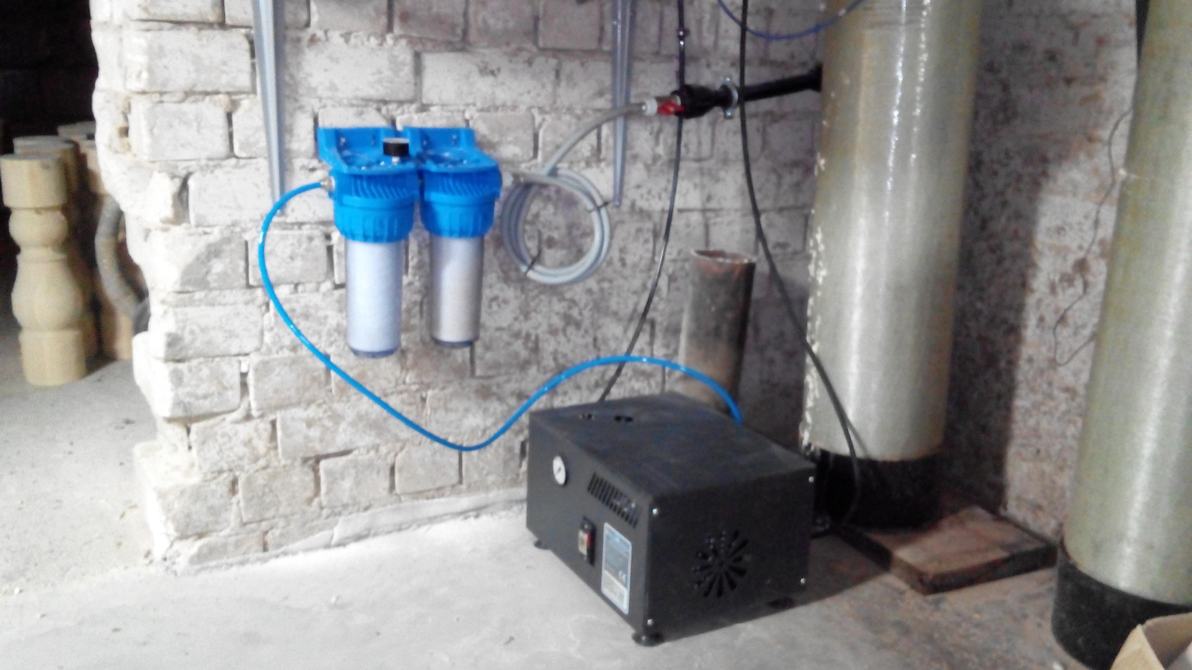 Kompresorius su filtravimo mazgu