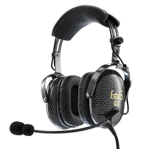 Faro™ G3 ANR Carbon Fiber Headset | GA Dual Plug, Bluetooth, 3.5 mm AUX