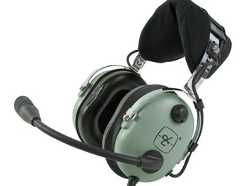 David Clark Aviation Headset | Straight Cord, Dual Plug, Flex Boom, M-7/A