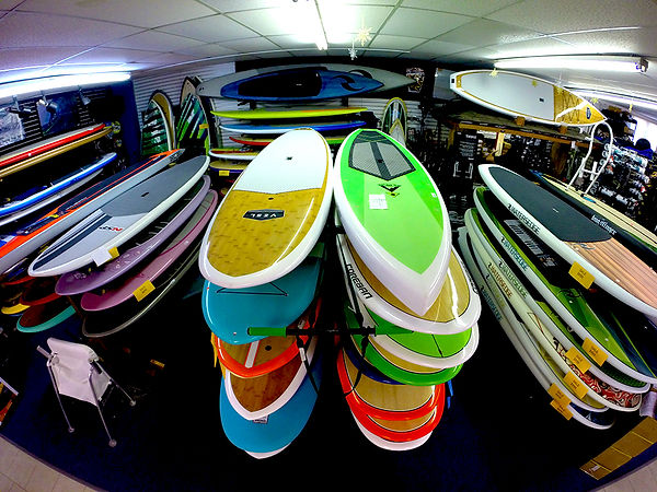 Paddle boards in store