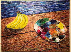 """""""Bananas and Paint"""" 24x20in"""