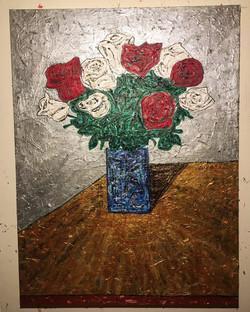 """""""Summer Roses"""" 4ftx3ft"""