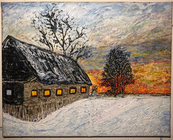 """Winter Sunset"" 20x16in"