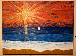 """""""A View From Angel Island"""" 4ft x 3ft"""