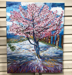 Peach Trees from Arles, 30in x 24in