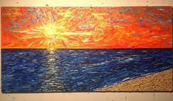 """""""Apollo's Silent Sunset"""" 4ft x 2ft"""