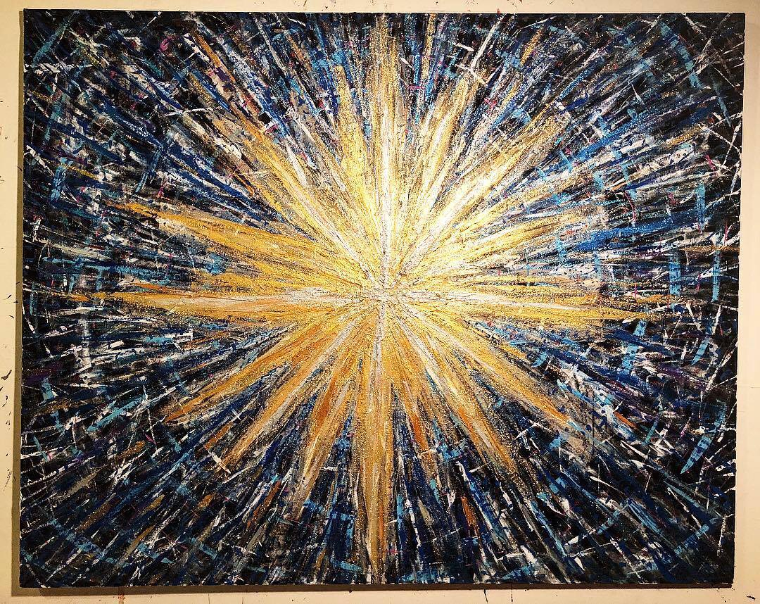 """Star Studded"" 5ft x 4ft"
