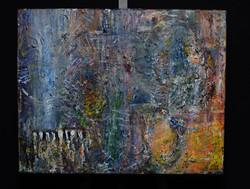 """Elephante on Keys"" 20x16"