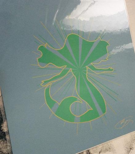 12/12 inch Mermaid Print (Grey)