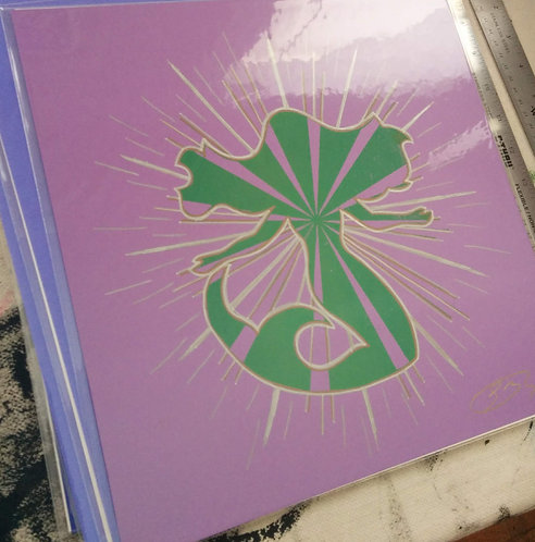 12/12 inch Mermaid Print (Purple)