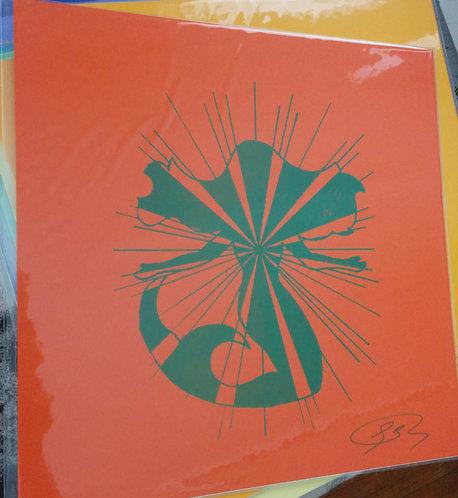 12/12 inch Mermaid Print (Orange)