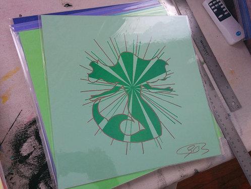 12/12 inch Mermaid Print (Pale Green)
