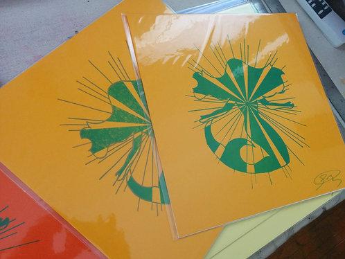 12/12 inch Mermaid Print (Yellow-Orange)