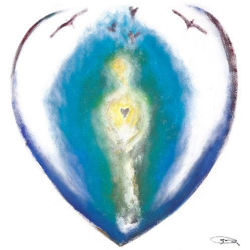 "10/10 inch print of ""Healing Heart"""