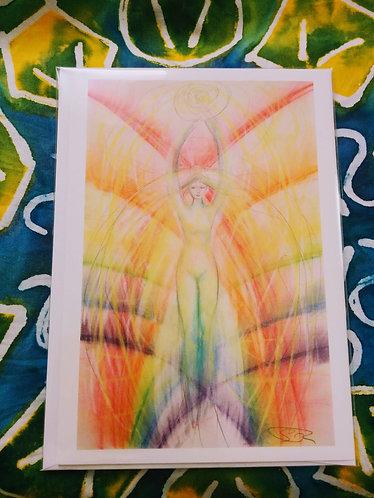 Note Card (Soaring Through the Vortex)