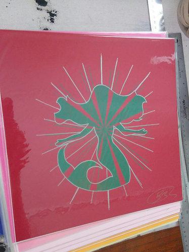 12/12 inch Mermaid Print (Dark Red)