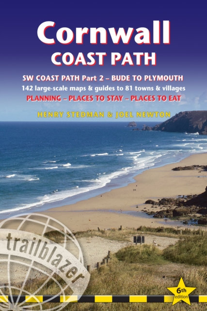 Cornwall Coast Path : Practical walking guide with 142 Large-Scale Walking Maps