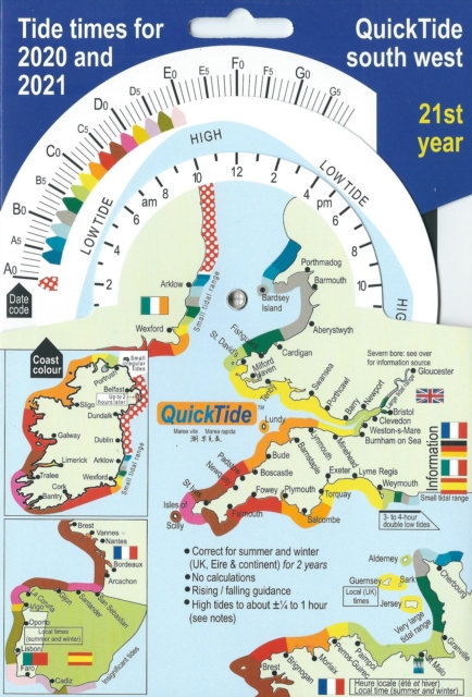 QuickTide south west : Tide times for 2020 and 2021:  21st year