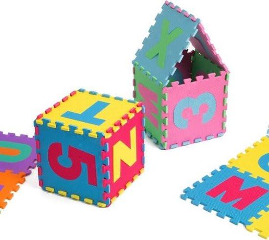 Puzzelmat cijfers letters