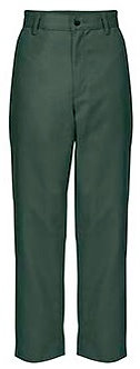 Plain Front Twill Pants (Relaxed Fit)