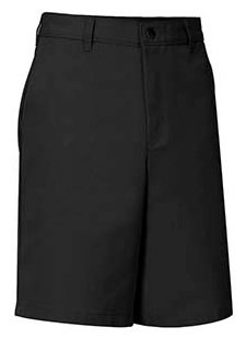 Plain Front Twill Shorts (Relaxed Fit)