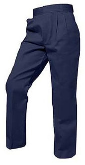 Pleated Twill Pants (Traditional Fit)