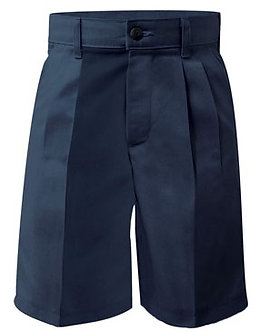 Plain Front Twill Long Shorts, Relaxed Fit