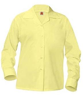 Long Sleeve Broadcloth Blouse