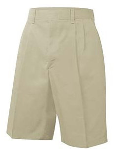 Pleated Twill Shorts (Traditional Fit)