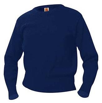 100% Cotton Crew Neck Long Sleeve Pullover