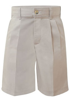 Pleated Twill Long Shorts, Relaxed Fit